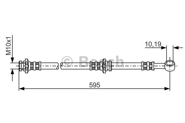 Flexible de frein - BOSCH - 1 987 476 131