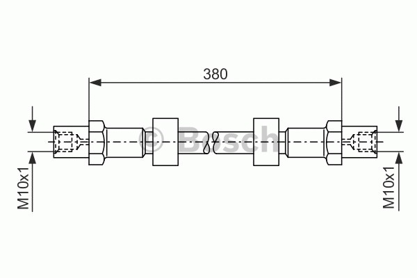 Flexible de frein - BOSCH - 1 987 476 138