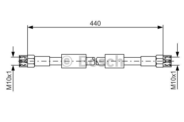 Flexible de frein - BOSCH - 1 987 476 139
