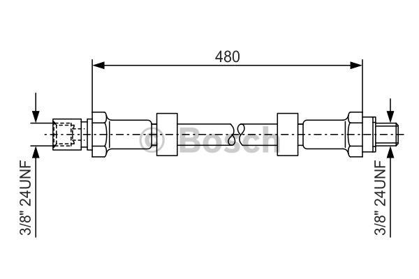 Flexible de frein - BOSCH - 1 987 476 145