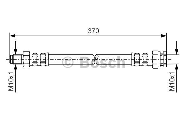 Flexible de frein - BOSCH - 1 987 476 150