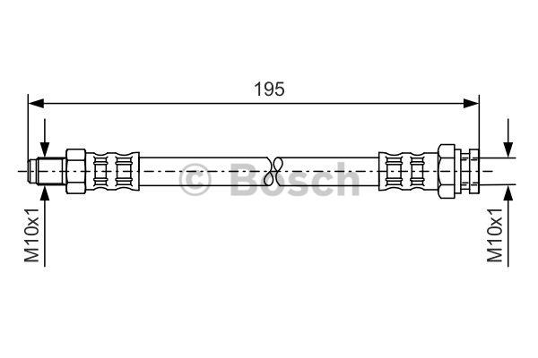 Flexible de frein - BOSCH - 1 987 476 152