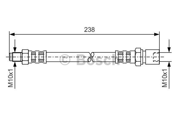 Flexible de frein - BOSCH - 1 987 476 156