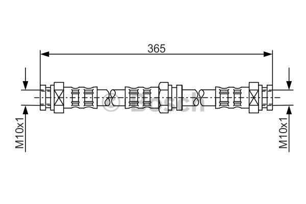 Flexible de frein - BOSCH - 1 987 476 159