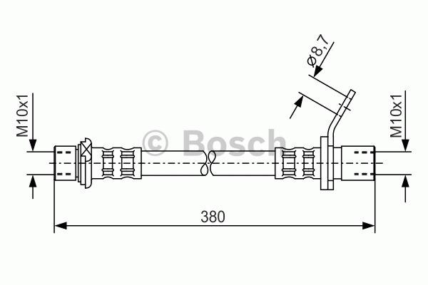 Flexible de frein - BOSCH - 1 987 476 160