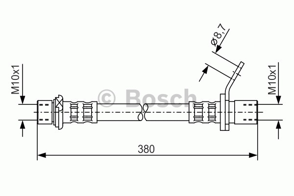 Flexible de frein - BOSCH - 1 987 476 162
