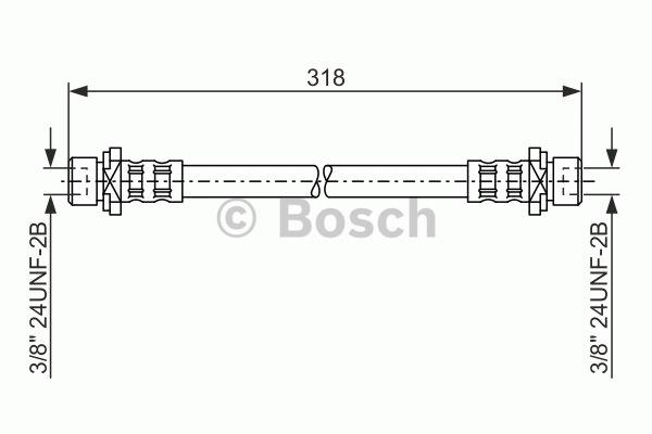Flexible de frein - BOSCH - 1 987 476 165