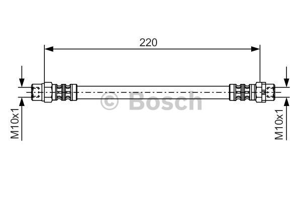Flexible de frein - BOSCH - 1 987 476 175