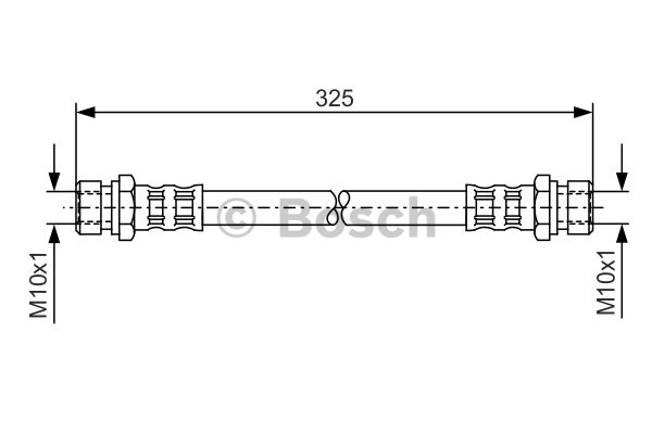 Flexible de frein - BOSCH - 1 987 476 177