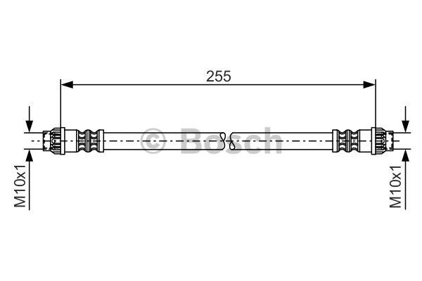Flexible de frein - BOSCH - 1 987 476 178