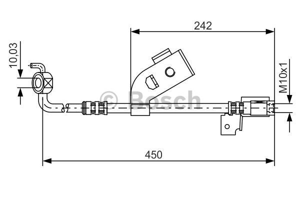 Flexible de frein - BOSCH - 1 987 476 184