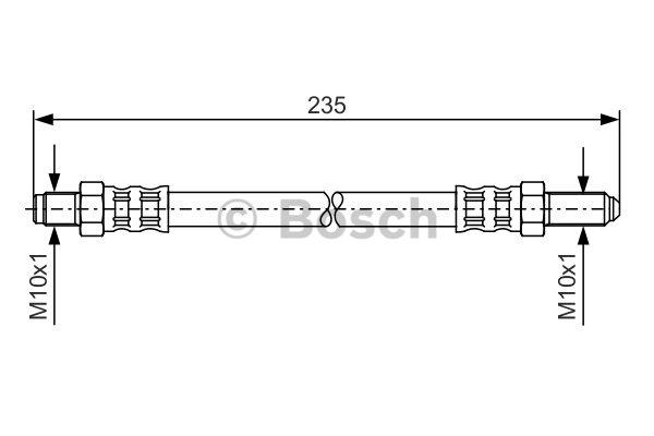 Flexible de frein - BOSCH - 1 987 476 185