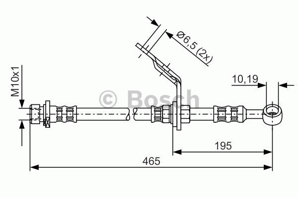 Flexible de frein - BOSCH - 1 987 476 186