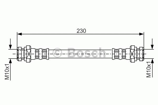 Flexible de frein - BOSCH - 1 987 476 195