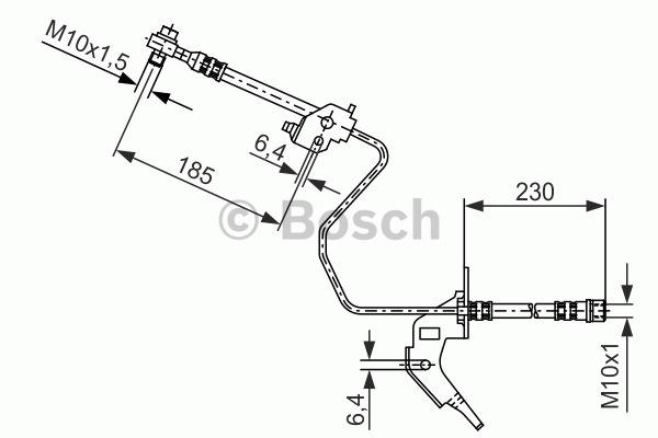 Flexible de frein - BOSCH - 1 987 476 200