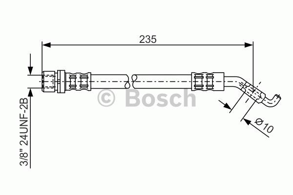 Flexible de frein - BOSCH - 1 987 476 207