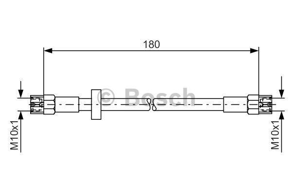 Flexible de frein - BOSCH - 1 987 476 216