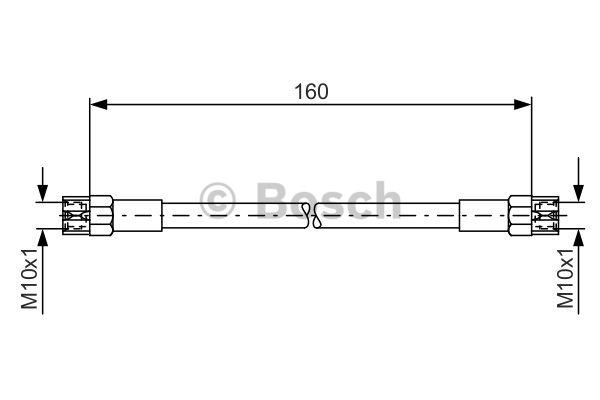 Flexible de frein - BOSCH - 1 987 476 220