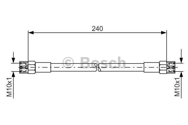 Flexible de frein - BOSCH - 1 987 476 224