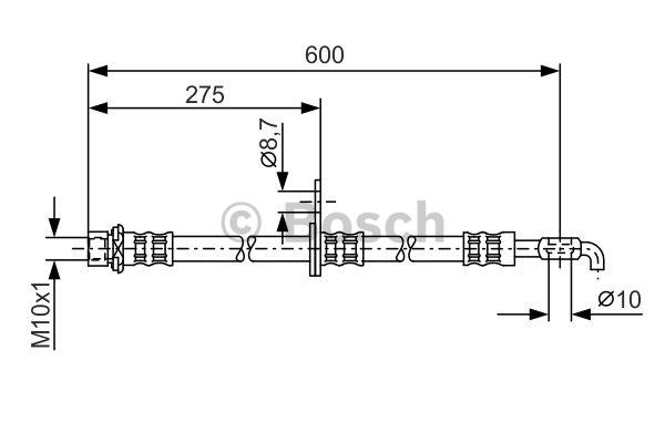 Flexible de frein - BOSCH - 1 987 476 229