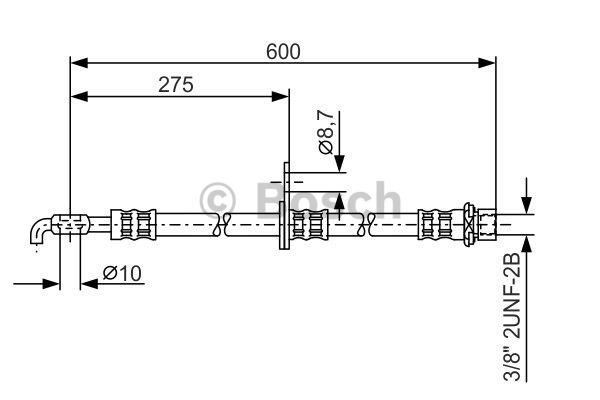 Flexible de frein - BOSCH - 1 987 476 246