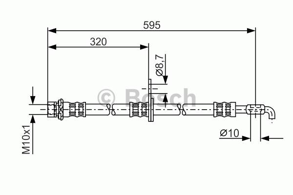 Flexible de frein - BOSCH - 1 987 476 257