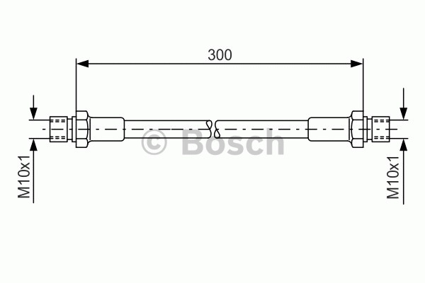 Flexible de frein - BOSCH - 1 987 476 286