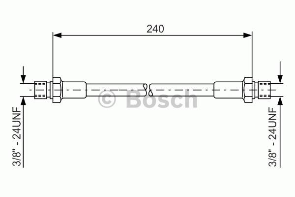 Flexible de frein - BOSCH - 1 987 476 288