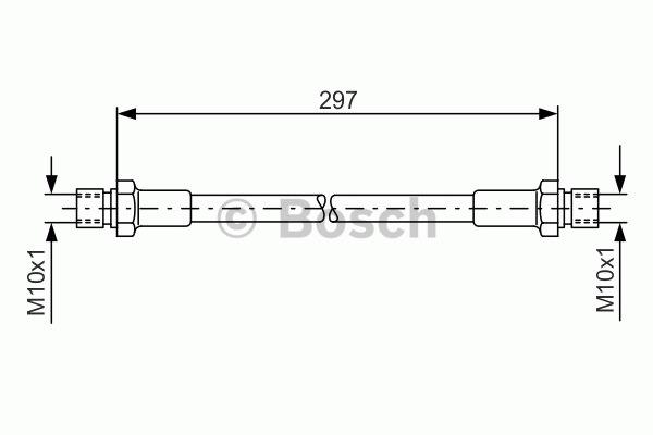 Flexible de frein - BOSCH - 1 987 476 290