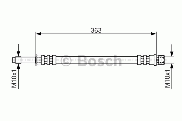 Flexible de frein - BOSCH - 1 987 476 295