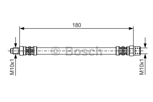 Flexible de frein - BOSCH - 1 987 476 302
