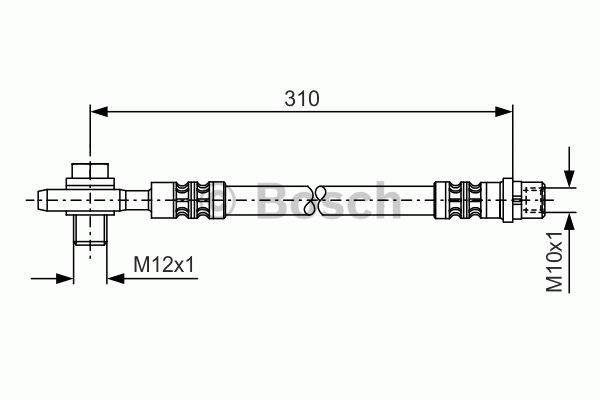 Flexible de frein - BOSCH - 1 987 476 308