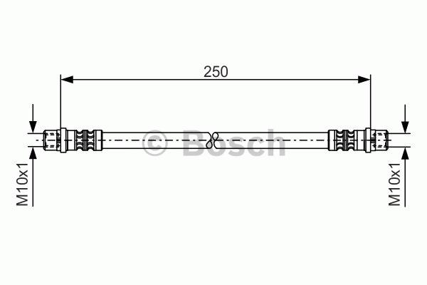 Flexible de frein - BOSCH - 1 987 476 309