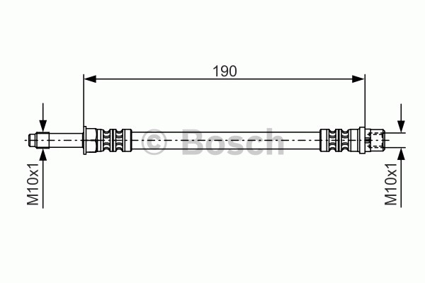 Flexible de frein - BOSCH - 1 987 476 310