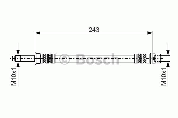 Flexible de frein - BOSCH - 1 987 476 313