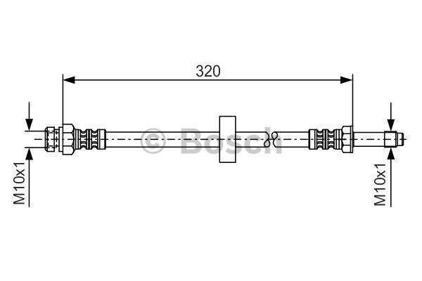 Flexible de frein - BOSCH - 1 987 476 317