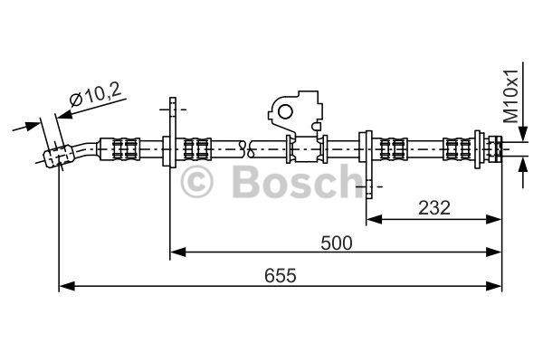 Flexible de frein - BOSCH - 1 987 476 322