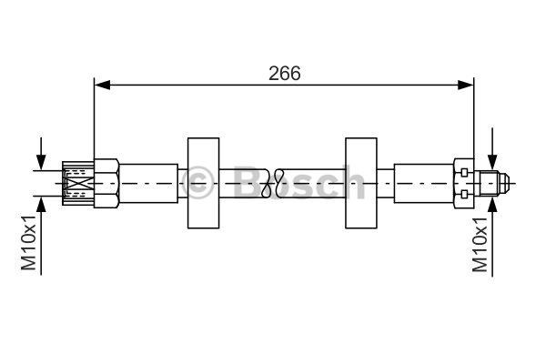 Flexible de frein - BOSCH - 1 987 476 337