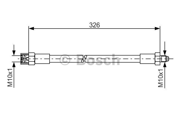 Flexible de frein - BOSCH - 1 987 476 339