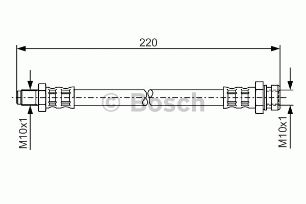 Flexible de frein - BOSCH - 1 987 476 345