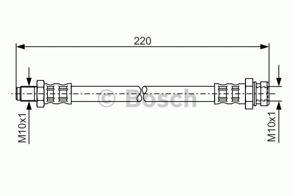 Flexible de frein - BOSCH - 1 987 476 347