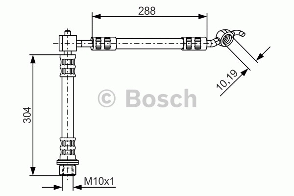 Flexible de frein - BOSCH - 1 987 476 358
