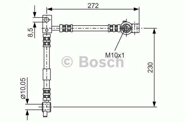 Flexible de frein - BOSCH - 1 987 476 361