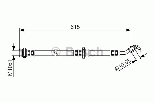 Flexible de frein - BOSCH - 1 987 476 362