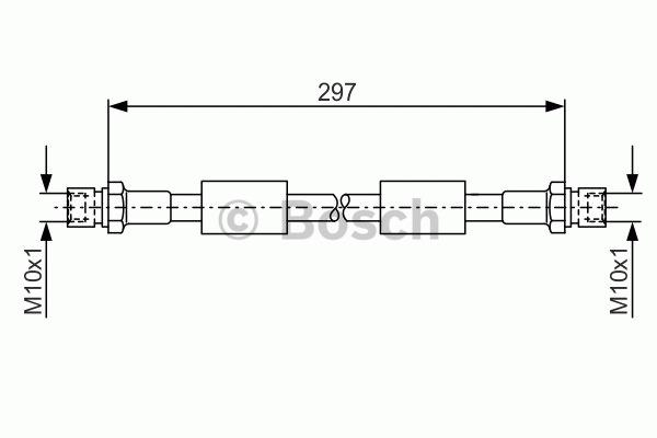 Flexible de frein - BOSCH - 1 987 476 380
