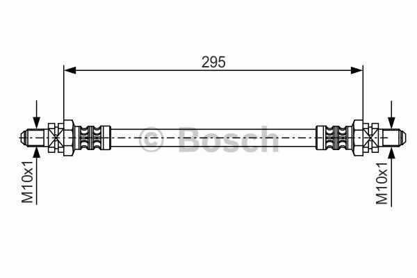 Flexible de frein - BOSCH - 1 987 476 382