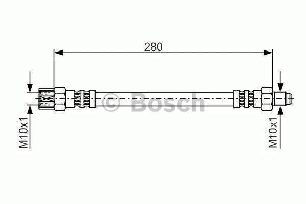 Flexible de frein - BOSCH - 1 987 476 396