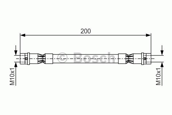 Flexible de frein - BOSCH - 1 987 476 402