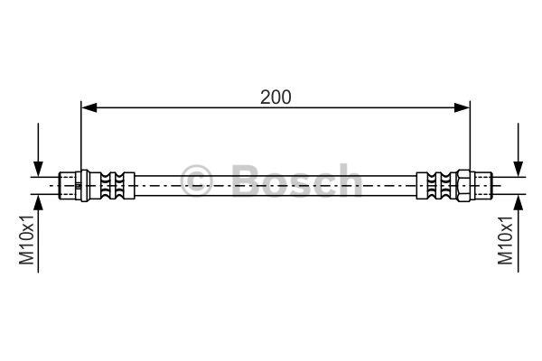 Flexible de frein - BOSCH - 1 987 476 403