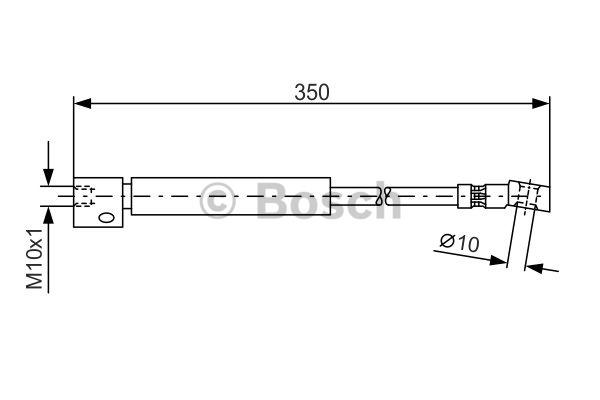 Flexible de frein - BOSCH - 1 987 476 409